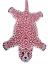 thumbnail 3 -  Pink Leopard Skin Shape 2 x3' Handmade Tufted 100% woollen Rugs