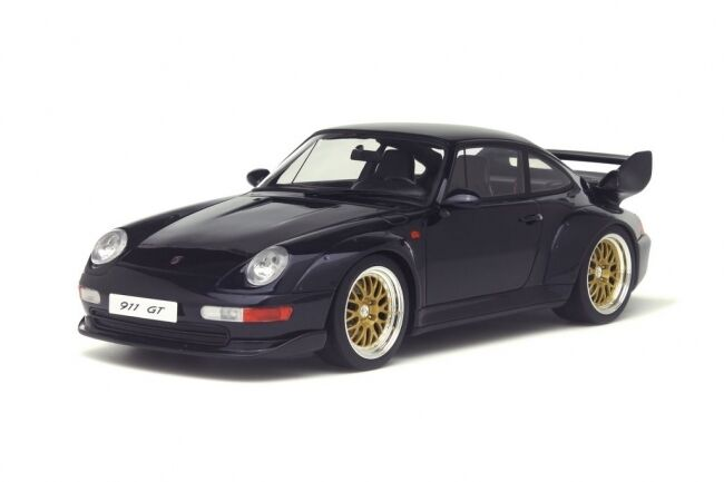 Porsche 911 993 GT Carrera Coupe Dark bleu BL BL BL resin GT spirit NEUF NEW 1 18 679edc