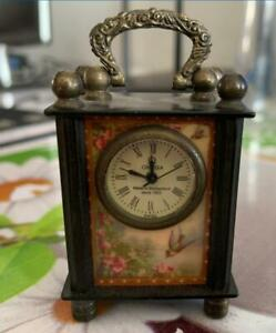 Collectible-Chinese-Belle-Handwork-Mechanical-Table-Clock-NN