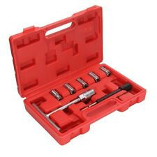 UK Professional 7PC Diesel Injector Seat Cutter Cleaner Tool Set Carbon Remover