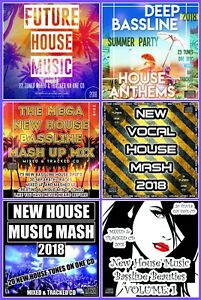 NEW-HOUSE-MUSIC-MASH-UP-FUTURE-BASSLINE-CLUB-CDs-6-x-DJ-mixed-CD-PACK-COLLECTION