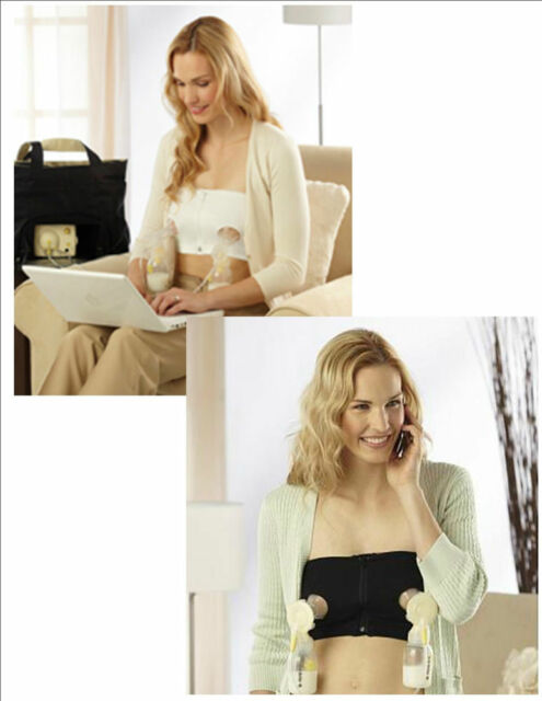 7c8dfdcb5f Medela Easy Expression Bustier Hands Free Pumping Bra New White Black S M L  XL
