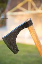 """Hand Forged Large 33"""" Bearded Viking  Norse Medieval Battle Axe Hardwood Handle"""