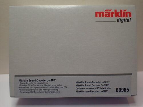 Märklin H0 60985 Sound Decoder mSD3 OVP neu Dampflok 8 pol NEM mfx MM1 MM2 DCC
