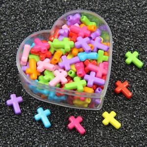 100X Acryl Herzform Perlen Baby Schnullerkette Schmuck Zubehör 8mm