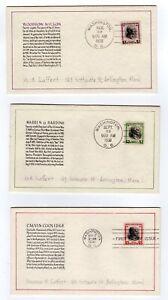 803-34-George-Laffert-Hand-Drawn-Presidential-Series-FDCs-1938-Full-Matched-Set