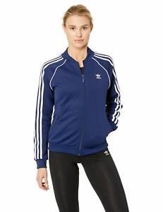 Women-039-s-adidas-SUPERSTAR-Track-Jacket-Blue-DV2633
