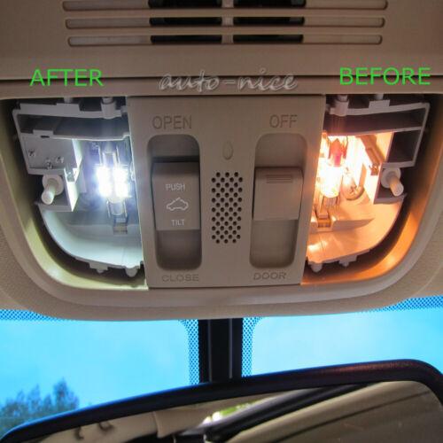 16pc White LED Interior Light Package Kit For 2013-2016 2017 2018 Honda Accord