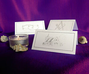 Details About Table Place Cards Wedding Masonic Meal Party Name Setting Card White Or Ivory