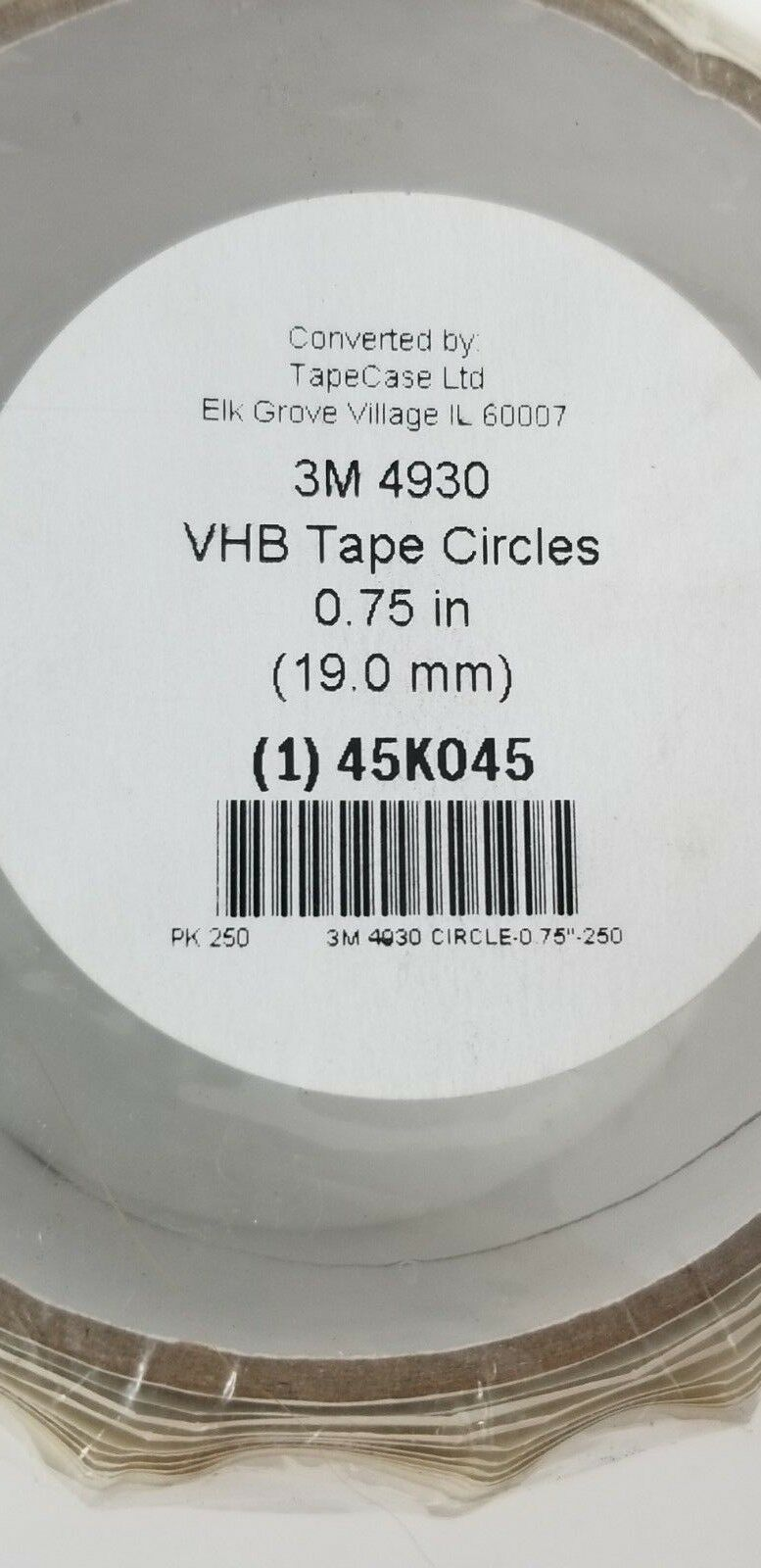 250 roll Acrylic Foam Double Sided VHB Foam Tape 25 mil Thick 3/4