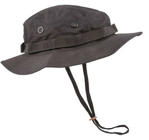 US-amp-British-Army-Military-Jungle-Boonie-Sun-Bush-Hat-Bucket-Surplus-Black-New