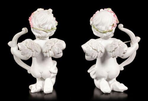 Engel Figuren Mit Pfeil und Bogen Fantasy Cherubim Amor Geschenk 2er Set