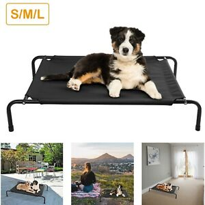 Elevated-Dog-Bed-Lounger-Sleep-Pet-Cat-Raised-Cot-Hammock-for-Indoor-Outdoor-US