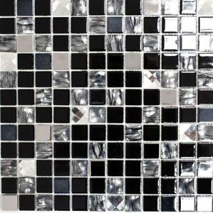 selbstklebend-Mosaikfliesen-Glasmosaik-Edelstahl-schwarz-200-4CM26-1-Matte