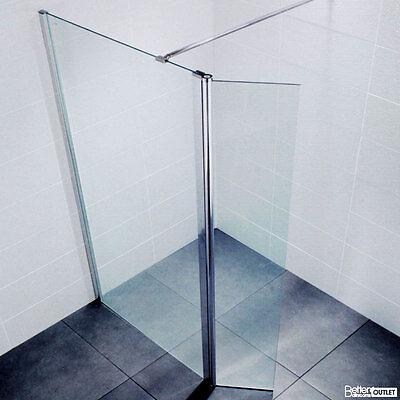 Deluxe 8mm 300 Wetroom Return Panel Shower Enclosure Screen Bathroom