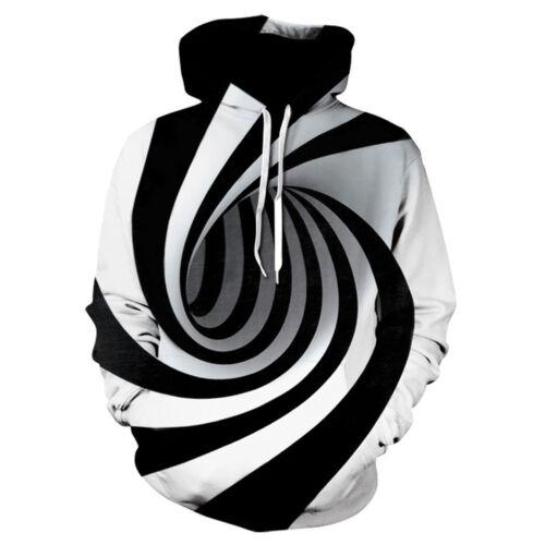 Men Women/'s Hoodie 3D Print Sweater Sweatshirt Jacket Coat Pullover Graphic Top