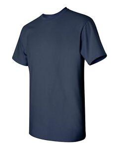 6-New-Blank-Gildan-5000-100-Heavy-Cotton-Navy-Adult-T-Shirts-Bulk-Lot-S-M-L-XL