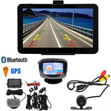 7 inch Car GPS Navigator Bluetooth With Wire Rear View Camera+4 Parking Radars