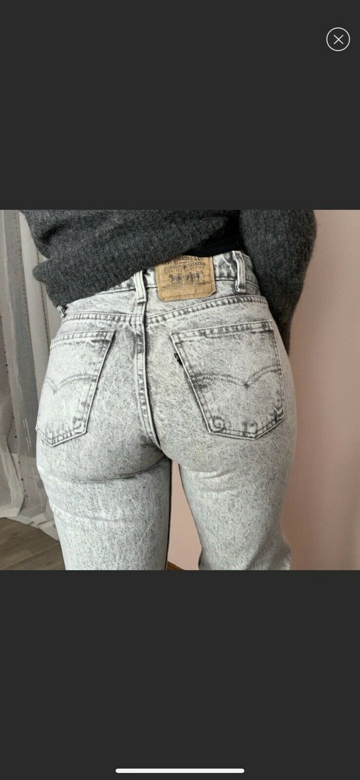 vintage high rise levis made in USA Gray - image 1