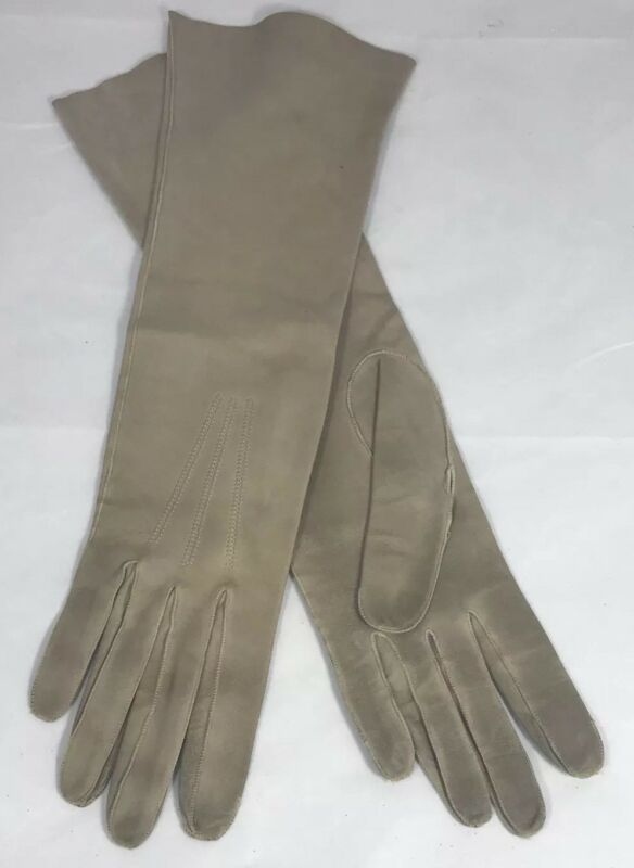 Genteel Vintage Fownes Own Make Women Gloves Beige All Leather 54c Made In France As Is To Clear Out Annoyance And Quench Thirst