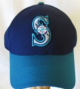 296a319bf933e NEW! MLB Baseball Replica Adjustable Cap Hat Seattle Mariners One ...