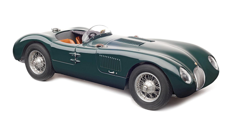 CMC JAGUAR C-Type, 1952 (British Racing verde) m-191