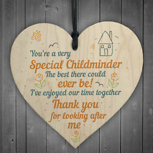 Image Is Loading Special Childminder Shabby Chic Heart Babysitter Plaque Thank