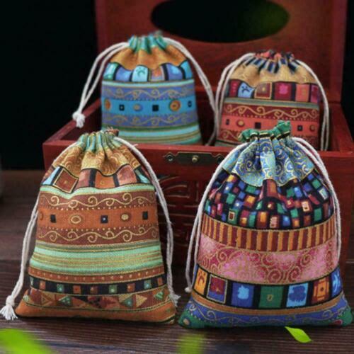 1PCS Drawstring Jewelry Pouches Cotton Gift Bags Wedding Favors Helpful gi Q8Q3