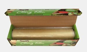 Catering-Cling-Film-Roll-450mm-x-300m-18-034-Kitchen-Chef-Food-Film-Clear-Large