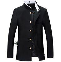 New Mens Single Breasted Blazer School Uniform Buttons Outwear Tunic Jacket Coat