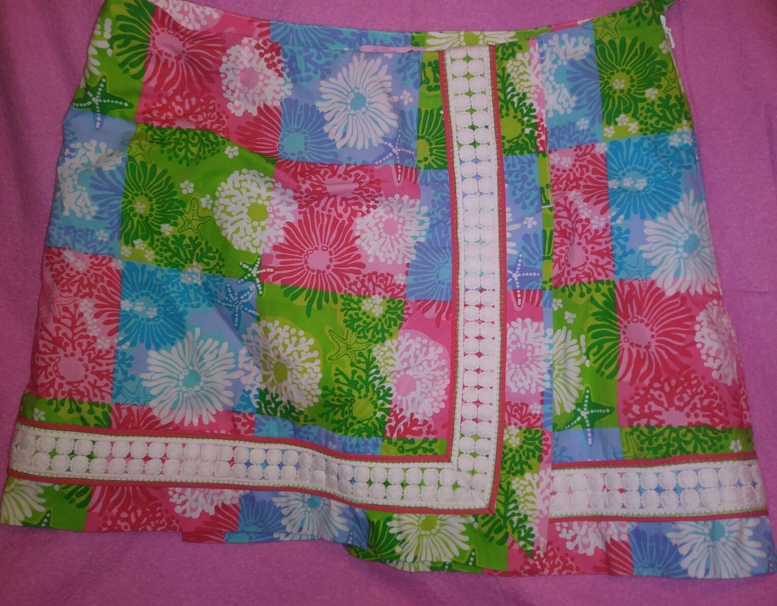 Lilly Pulitzer Floral Starfish Multicolord Skort Skirt Sz 4