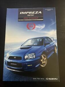 JDM 2004 Subaru Impreza WRX STi V-Limited Brochure GD Japan EJ20 Turbo Rally WRC