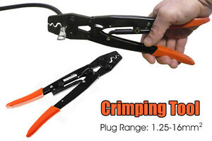 16mm cable crimper anderson plug lug battery non inslated crimping tool ebay. Black Bedroom Furniture Sets. Home Design Ideas