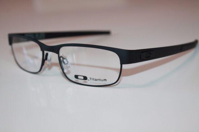 Oakley Metal Plate Titanium Eyeglasses OX5038-0153 Matte Black W Satin Chrome