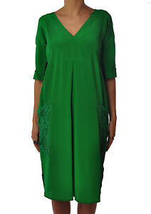 buy online 809af 7349d Dettagli su Twin Set - Abito - Donna - Verde - 3057807A183509