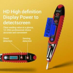 AC//DC Non-Contact Electric Test Pen Voltage Digital Detector Tester 12~250V LCD