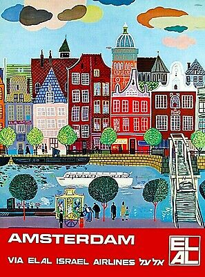 Royal Dutch Holland Netherlands Vintage Travel Advertisement Art Poster 2