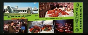 Oversized-postcard-Canada-Prince-Edward-Island-St-Ann-039-s-Church-Suppers-interior