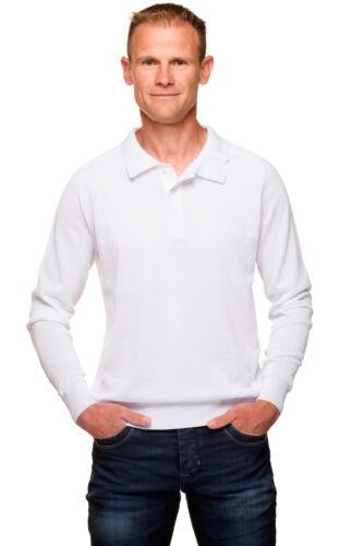 Ugholin Mercerisé Pull Manches Coton Longues Uni Homme Polo Col BYqdBwr