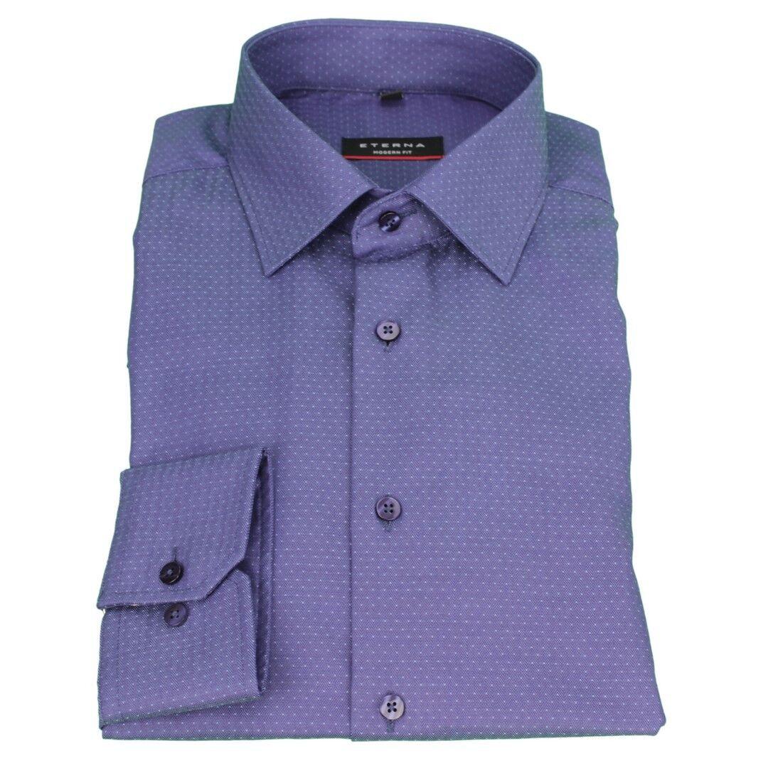ETERNA COMPLETO Camicia Business taglio moderno blu marino Strutturato 4149 x18p