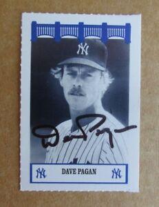 1992 THE WIZ YANKEES 70'S BASEBALL DAVE PAGAN AUTOGRAPH SIGNED CARD