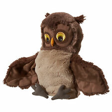 IKEA VANDRING UGGLA Brown Owl Glove Puppet Cuddly Toy - Fits Large & Small Hands
