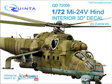 Quinta QD72006 1/72 Mi-24V Hind 3D-Printed&coloured interior for Zvezda kit