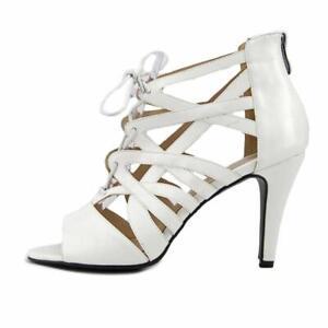 Beacon-Womens-Raquel-Open-Toe-Casual-Strappy-Sandals-White-Size-11-0