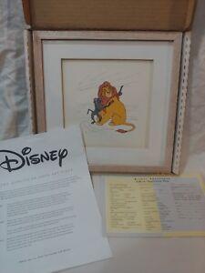 Disney-Treasures-Mufasa-Rafiki-Serigraph-Etching-COA-Lion-King-1994-lion-king