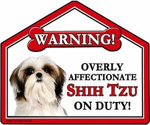 Image is loading Shih-Tzu-Gift-Window-Car-suction-sign-Novelty-
