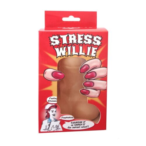 Novelty Joke Stress Squeeze Willy Willie Penis Secret Santa Rude Toy Adult Gift