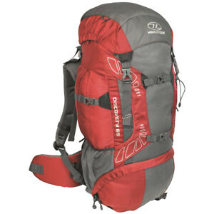 Highlander-Discovery-65-Trekking-Sac-a-Dos-Voyage-Pack-Randonnee-65L-Rouge