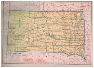 1942-Railroad-Map-of-South-Dakota-With-A-Railroad-Map-of-Tennessee-On-Back