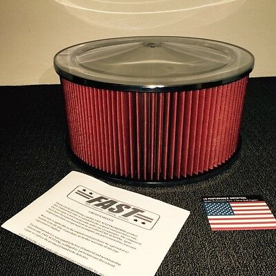 14x6.5 Air Cleaner Filter Assembly Drag Burnout Car Holley 750 850 Replaces K&N